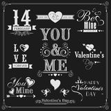 Typographic collection for Happy Valentines Day. Stock Images