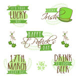 Typographic collection for St. Patricks Day celebration. Stock Photos