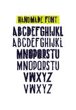 Typographic compositions. Letters of the alphabet Stock Photo