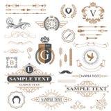 Typographic design elements Stock Images