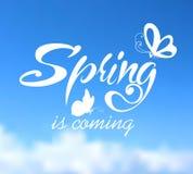 Typographic Design. Lettering Spring design on Stock Image