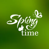 Typographic Design. Lettering Spring design with Royalty Free Stock Image