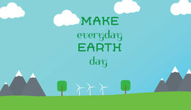 Typographic design poster for Earth Day Stock Photo