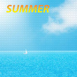 Typographic Design -Summer, geometrical shapes Royalty Free Stock Photo