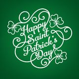 Typographic design template for Saint Patrick`s Day Stock Image