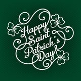 Typographic design template for Saint Patrick`s Day Stock Photography