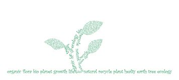 Typographic ecology. Ecology concept was created with typographic design Stock Photos