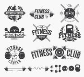 Typographic Fitness Emblems Royalty Free Stock Image