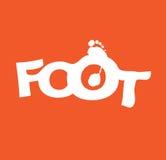 Typographic Foot Design stock illustration