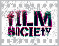 Typographic Graffiti Design for Film Society. Vector illustration. Stock Images