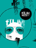 Typographic Graffiti Design for Film Society. Vector illustration. Poster for alternative Film Society Royalty Free Stock Photography