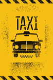 Typographic graffiti retro grunge taxi cab poster. Vector illustration. Royalty Free Stock Photos