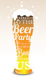 Typographic invitation to the Beer Party Stock Photos