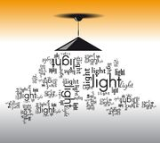 Typographic lamp Royalty Free Stock Image
