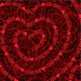 Typographic love. Typographic style love & valentine's illustration Stock Photos