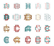 Typographic Monograms Colored Stock Photography