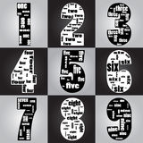 Typographic of number Stock Images