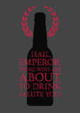 Typographic phrase quote beer poster. Vector illustration. Royalty Free Stock Photography