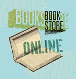 Typographic poster in grunge style for a online bookstore. Vector illustration. Stock Images