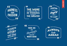 Typographic Quote Template. Template Vector Set. Trendy Colours. EPS Royalty Free Stock Photo