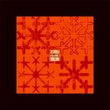 Typographic retro Christmas card design. Grunge vector illustration. Stock Photos