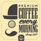 Typographic Retro Coffee Background Stock Images