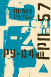 Typographic retro grunge abstract background with signs. Vector illustration. Stock Images