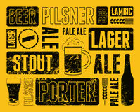 Typographic retro grunge beer poster. Vector illustration. Stock Images