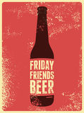 Typographic retro grunge beer poster. Vector illustration. Royalty Free Stock Photo