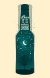 Typographic retro grunge beer poster. Vector illustration. Typographic retro grunge beer poster Royalty Free Stock Image