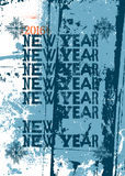Typographic retro Happy New Year 2016 card design. Grunge  illustration. Typographic retro Happy New Year 2016 card design. Vector illustration Stock Photos