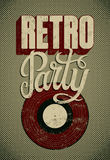 Typographic Retro Party grunge poster design. Vector illustration. Stock Images