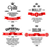 Typographic with ribbon Stock Photography