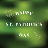 Typographic Saint Patrick's Day Background. Vector Stock Images