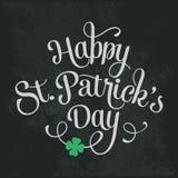 Typographic Saint Patricks Day Greeting Card Royalty Free Stock Image