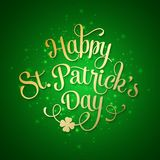 Typographic Saint Patricks Day Greeting Card Stock Images