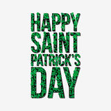 Typographic Saint Patrick's Day retro background. Vector design greetings card or poster. Typographic Saint Patrick's Day background. Vector design for greeting Stock Photography