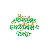 Typographic Saint Patrick's Day retro background. Vector design greetings card or poster. Typographic Saint Patrick's Day background. Vector design for greeting Stock Photos