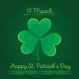 Typographic Saint Patrick's Day retro background. Vector design greetings card or poster. Royalty Free Stock Photo