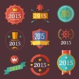 Typographic set vintage labels, signs, badges. 2015 typographic set vintage labels, signs, badges Stock Images