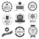 Typographic set vintage labels, signs, badges Stock Image