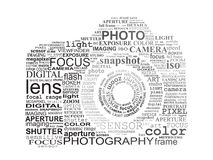 Typographic SLR Camera. Stock Photos