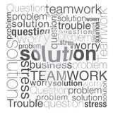 Typographic solution. Solution concept was created with typographic design Stock Photography