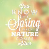 Typographic Spring Poster Stock Image