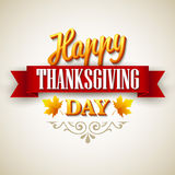 Typographic Thanksgiving Design. Vector Royalty Free Stock Photography