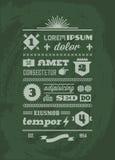 Typographic typographic Royalty Free Stock Image