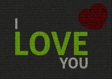 Typographic valentine card Stock Image