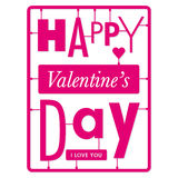 Typographic valentines day card Royalty Free Stock Photography