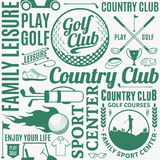 Typographic vector golf seamless pattern or background Royalty Free Stock Photo