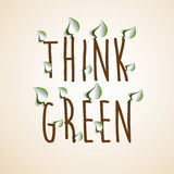 Typographic vintage design poster for Earth Day with paper cut Royalty Free Stock Images